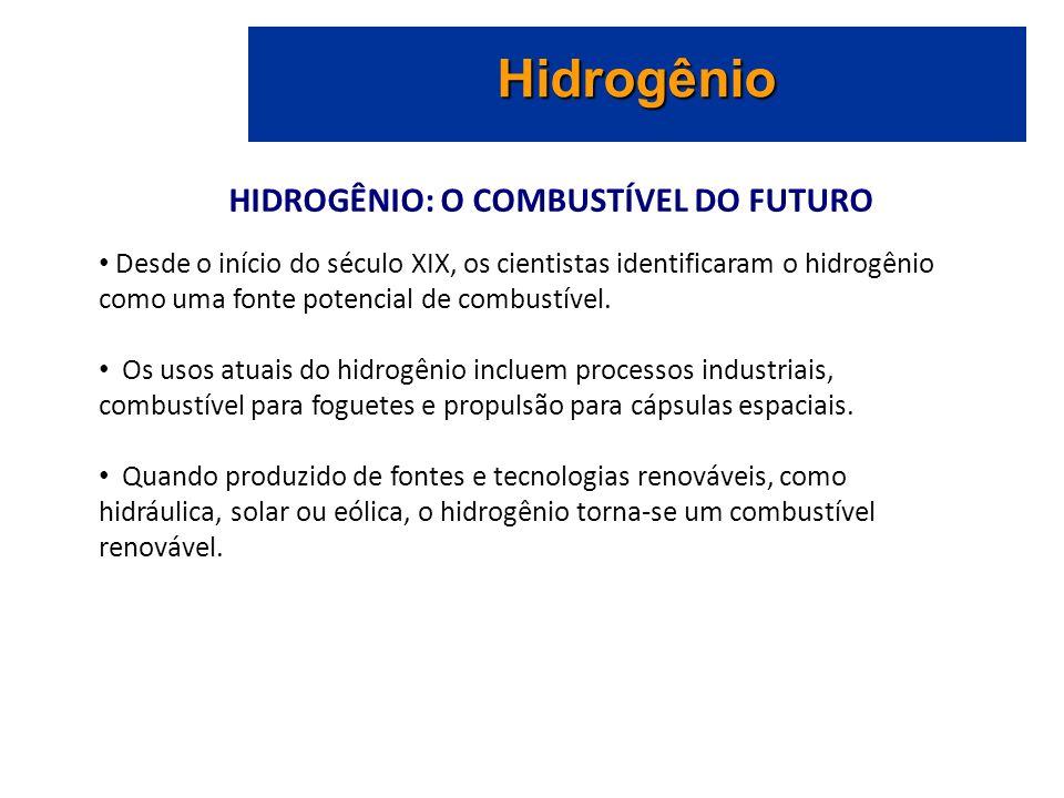 HIDROGÊNIO: O COMBUSTÍVEL DO FUTURO