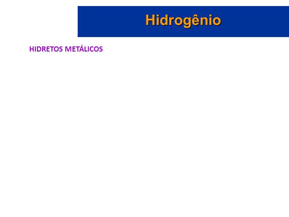Hidrogênio HIDRETOS METÁLICOS