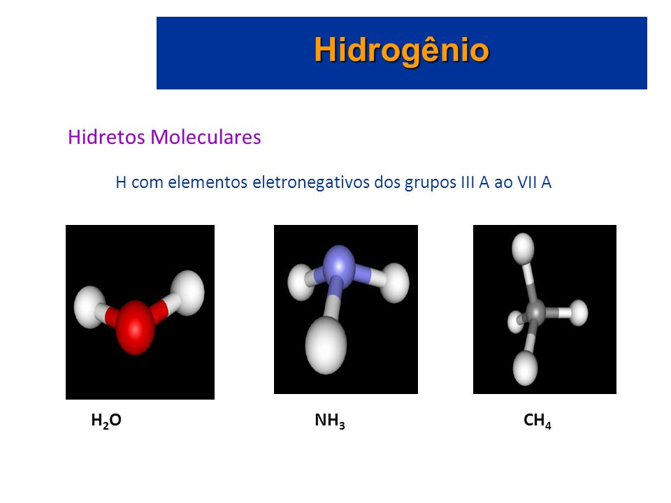 Hidrogênio Hidretos Moleculares