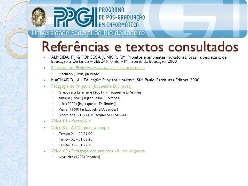 Referências e textos consultados