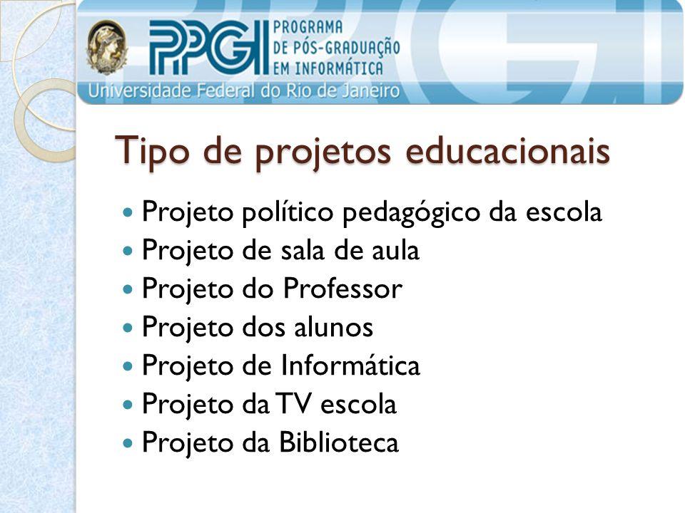 Tipo de projetos educacionais