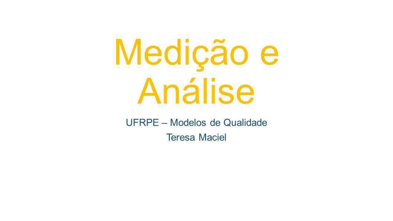 UFRPE – Modelos de Qualidade Teresa Maciel