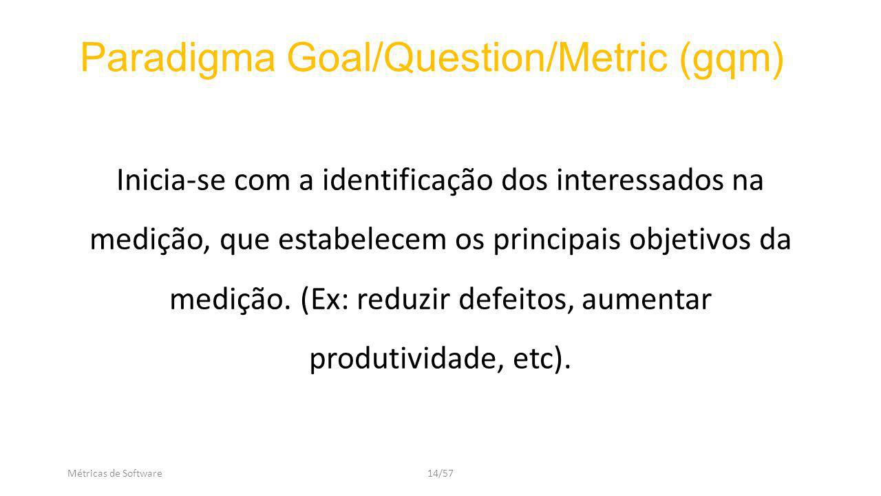 Paradigma Goal/Question/Metric (gqm)