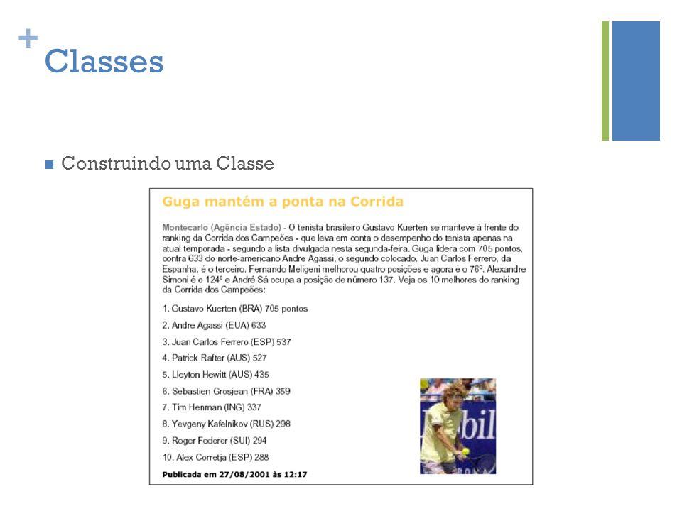 Classes Construindo uma Classe
