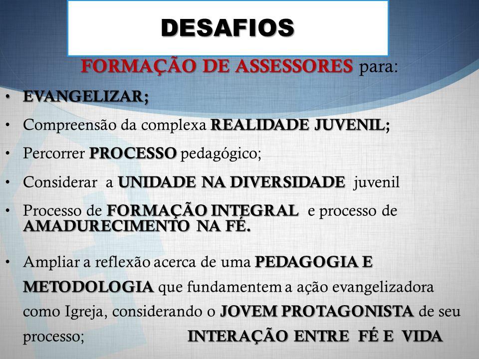 FORMAÇÃO DE ASSESSORES para: