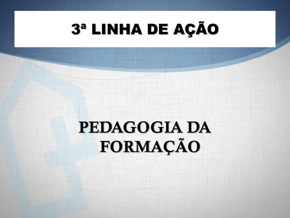 3ª LINHA DE AÇÃO PEDAGOGIA DA FORMAÇÃO
