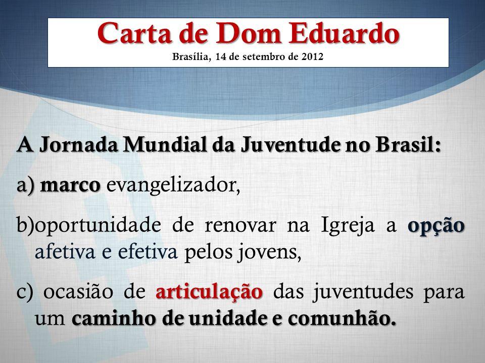 Carta de Dom Eduardo Brasília, 14 de setembro de 2012