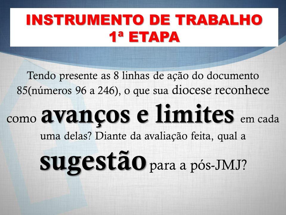 INSTRUMENTO DE TRABALHO 1ª ETAPA