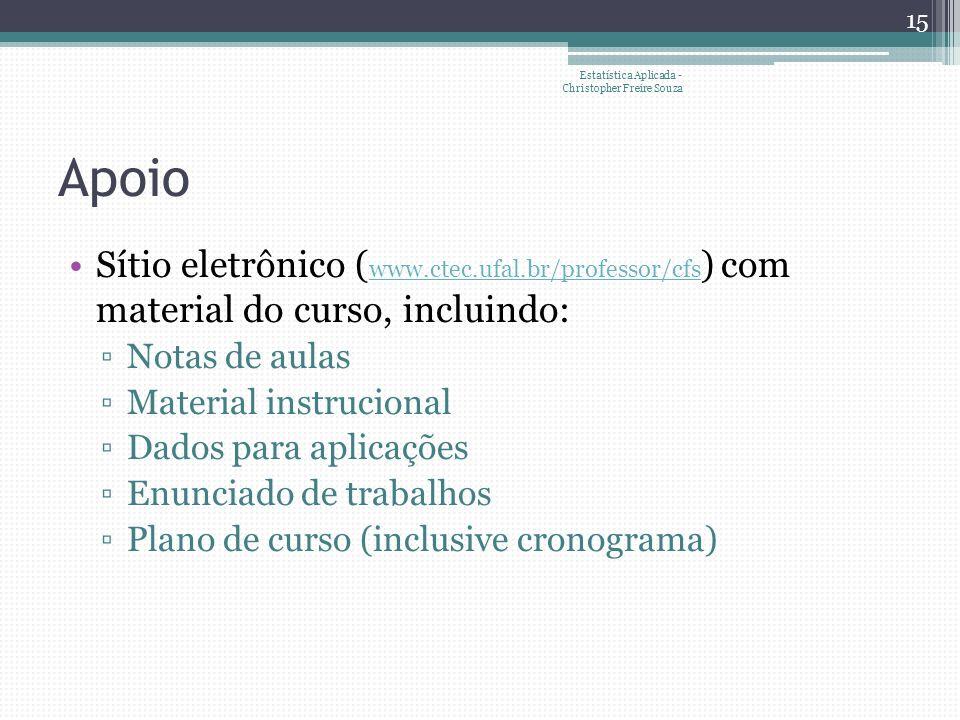 Estatística Aplicada - Christopher Freire Souza