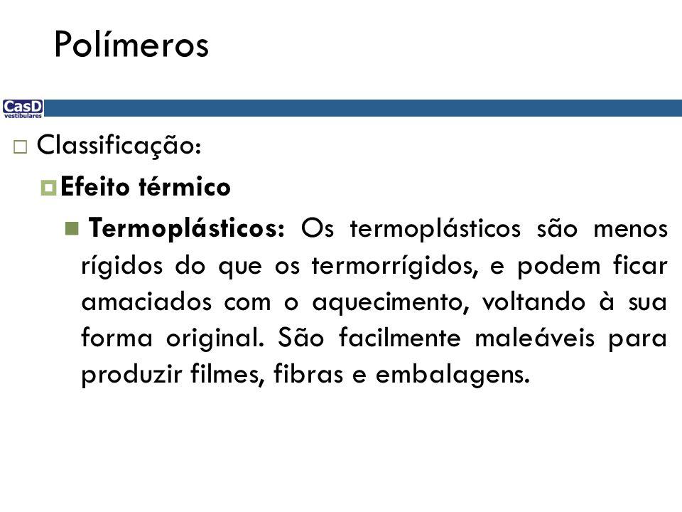 Polímeros Classificação: Efeito térmico