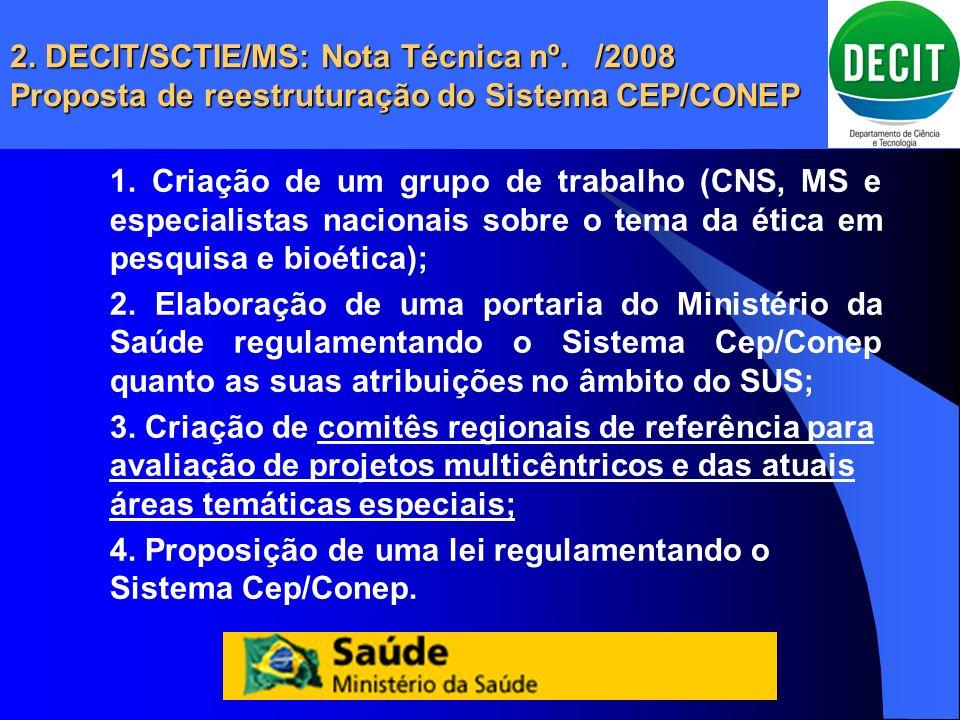 2. DECIT/SCTIE/MS: Nota Técnica nº