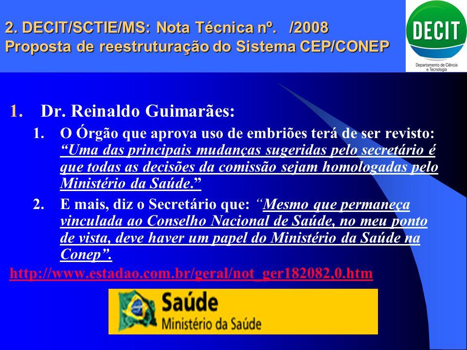 Dr. Reinaldo Guimarães: