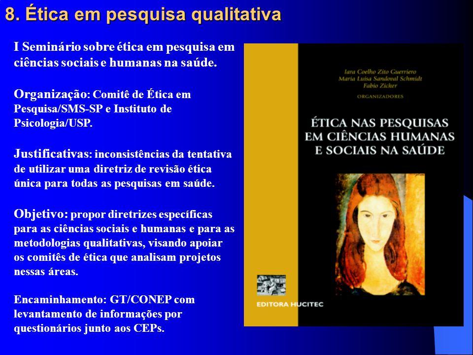 8. Ética em pesquisa qualitativa