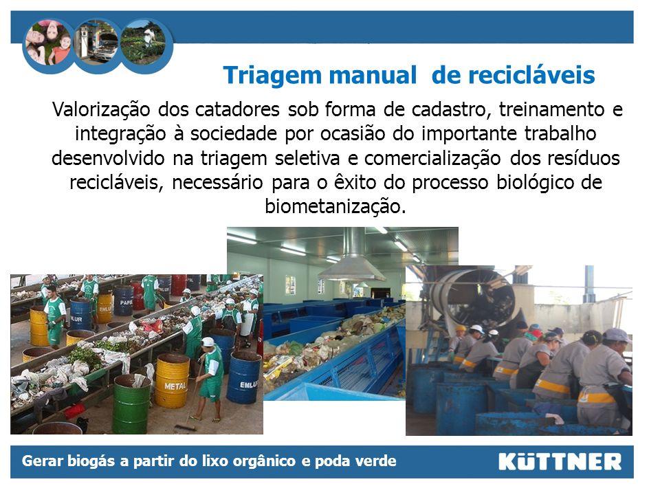 Triagem manual de recicláveis