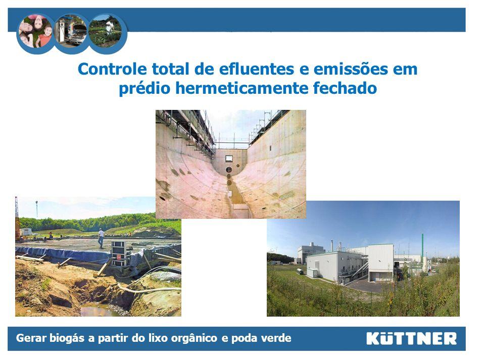 Controle total de efluentes e emissões em prédio hermeticamente fechado