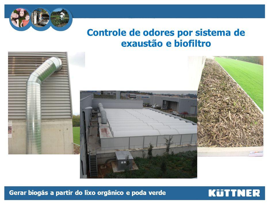 Controle de odores por sistema de exaustão e biofiltro