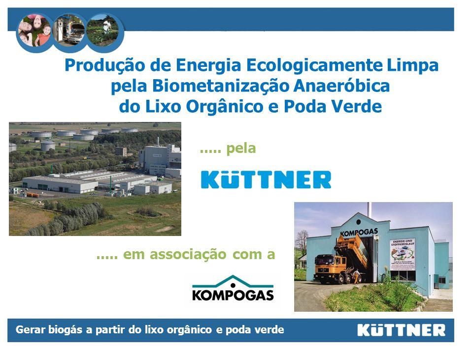 Produção de Energia Ecologicamente Limpa pela Biometanização Anaeróbica do Lixo Orgânico e Poda Verde