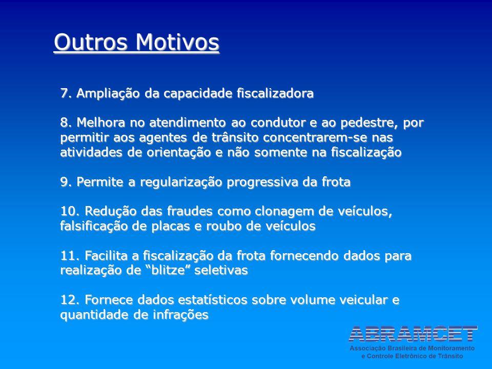 Outros Motivos 7. Ampliação da capacidade fiscalizadora