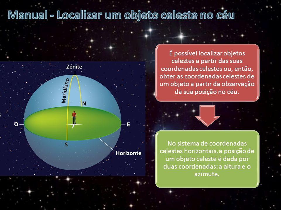 Manual - Localizar um objeto celeste no céu