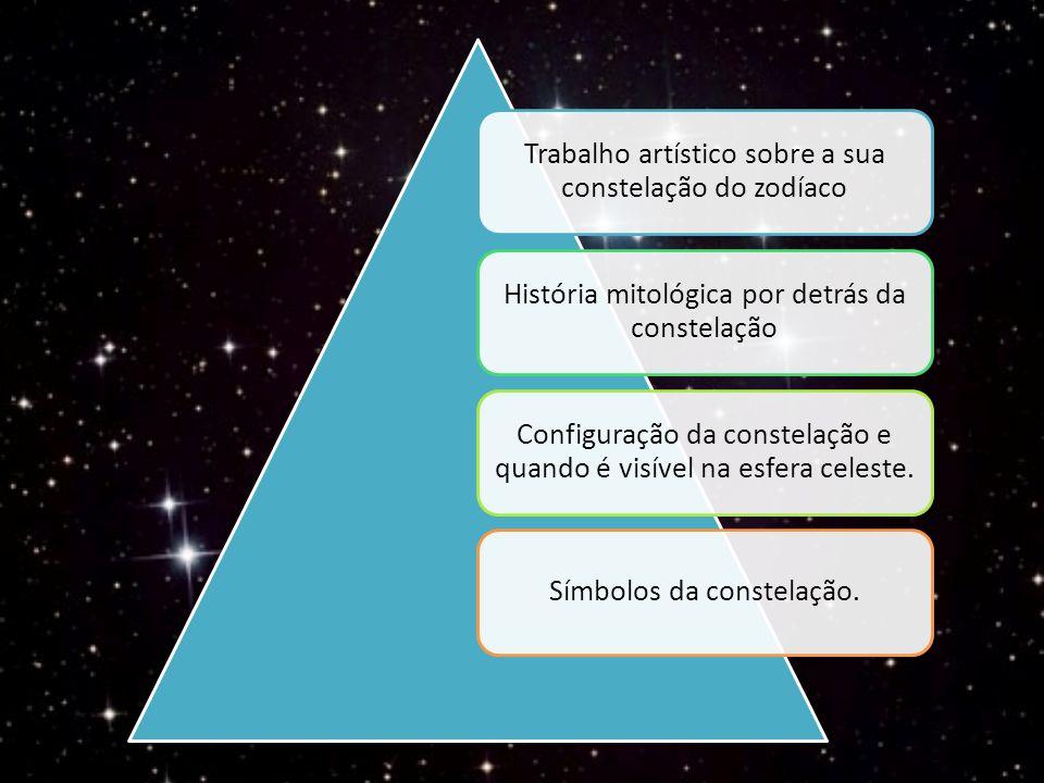 Trabalho artístico sobre a sua constelação do zodíaco