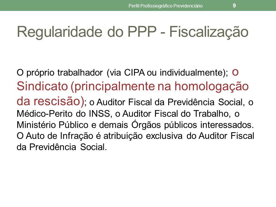 Regularidade do PPP - Fiscalização
