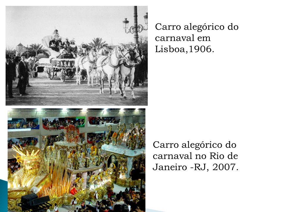 Carro alegórico do carnaval em Lisboa,1906.