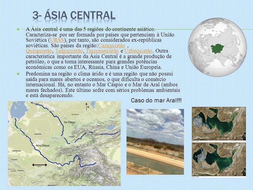 3- Ásia Central Caso do mar Aral!!!