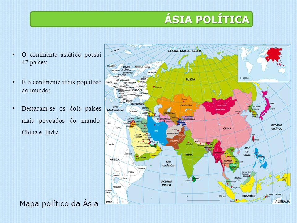 ÁSIA POLÍTICA Mapa político da Ásia