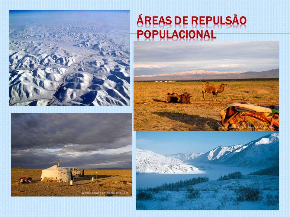 Áreas de repulsão populacional