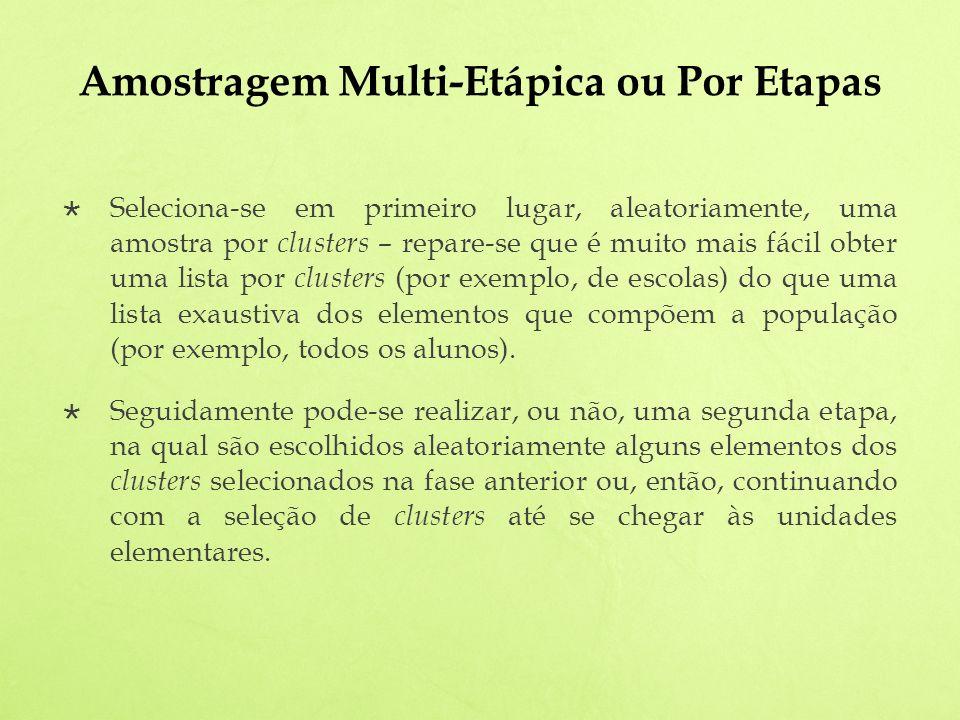 Amostragem Multi-Etápica ou Por Etapas