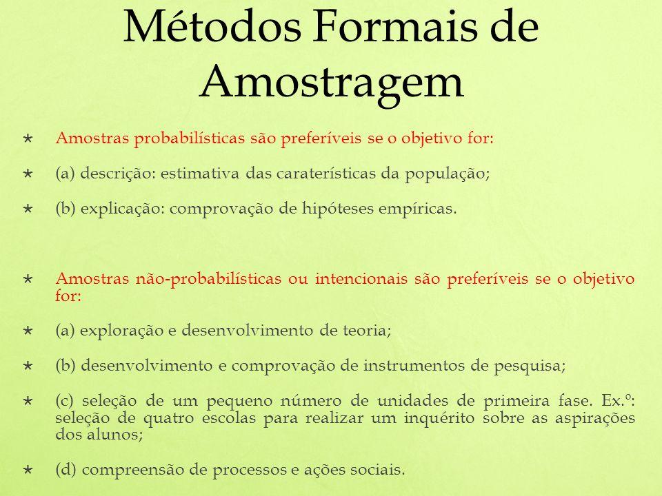 Métodos Formais de Amostragem
