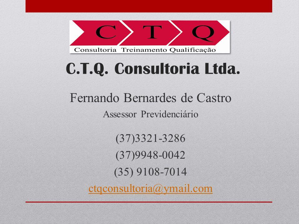 C.T.Q. Consultoria Ltda. Fernando Bernardes de Castro (37)3321-3286
