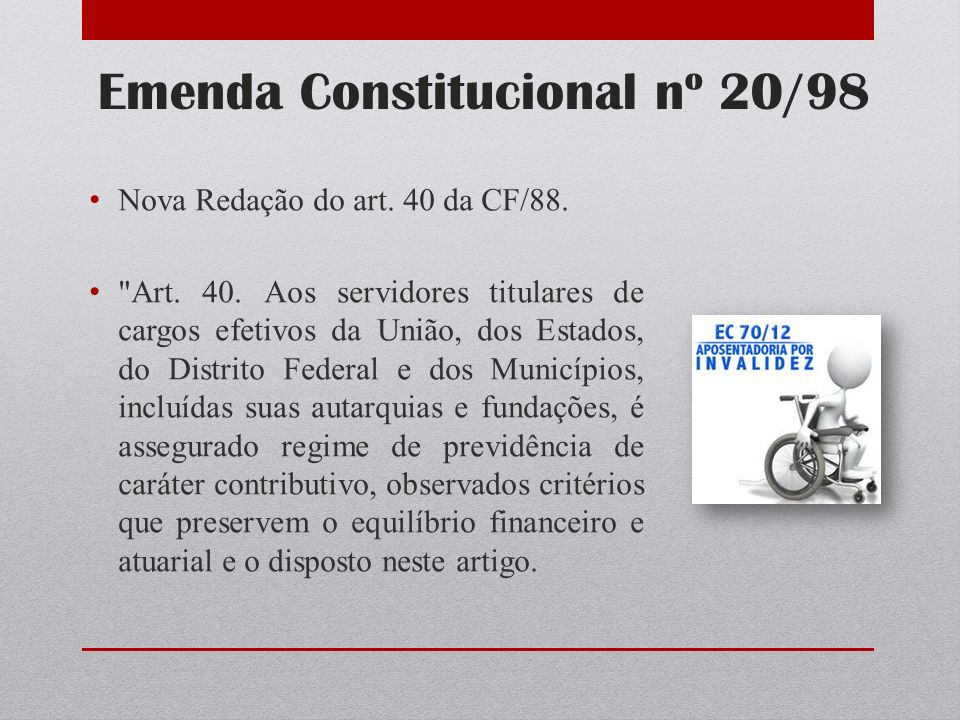 Emenda Constitucional nº 20/98