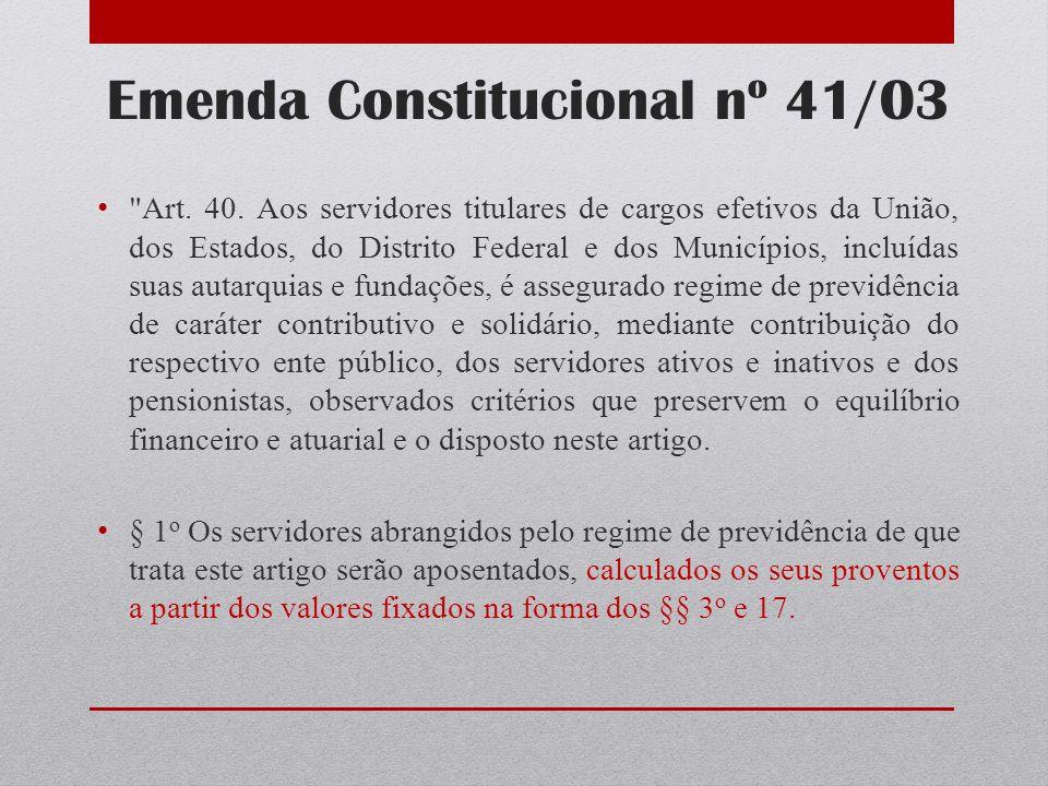 Emenda Constitucional nº 41/03