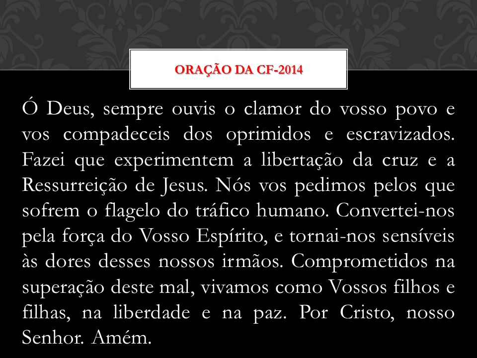 Oração da CF-2014