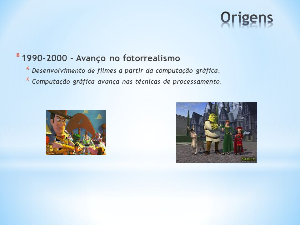Origens 1990-2000 – Avanço no fotorrealismo
