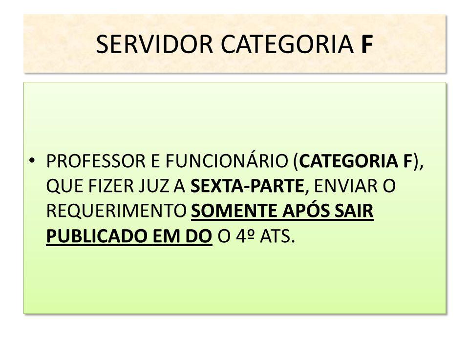 SERVIDOR CATEGORIA F