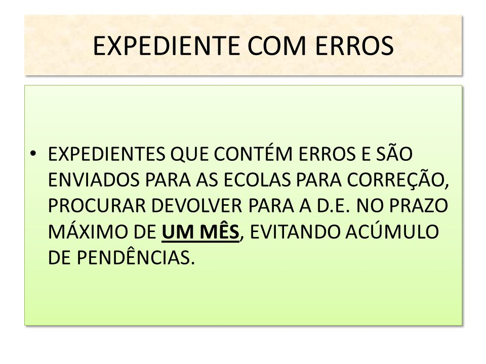 EXPEDIENTE COM ERROS
