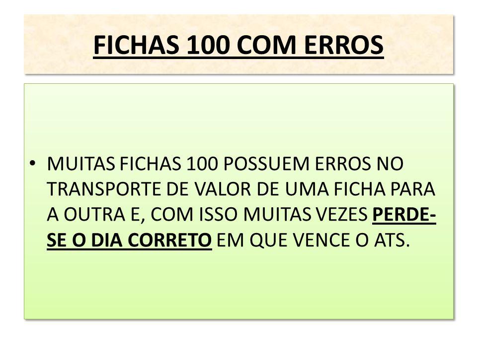 FICHAS 100 COM ERROS