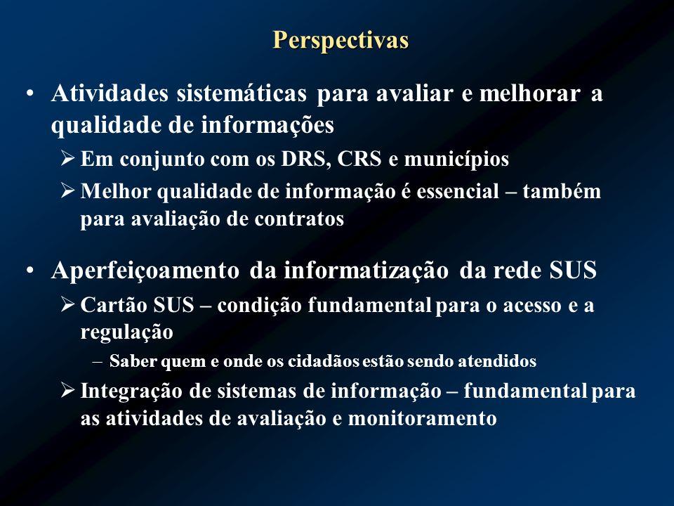 Aperfeiçoamento da informatização da rede SUS