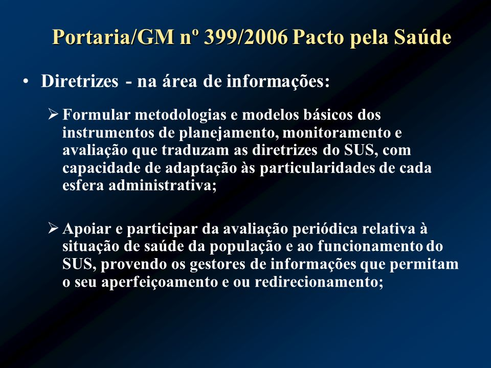 Portaria/GM nº 399/2006 Pacto pela Saúde