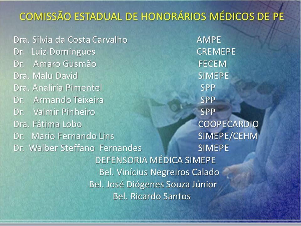 COMISSÃO ESTADUAL DE HONORÁRIOS MÉDICOS DE PE