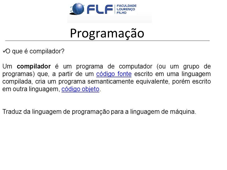 Programação O que é compilador