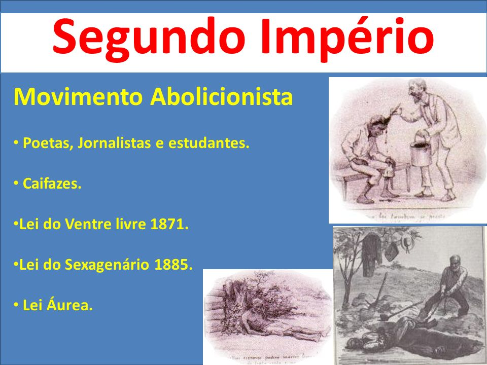 Segundo Império Movimento Abolicionista