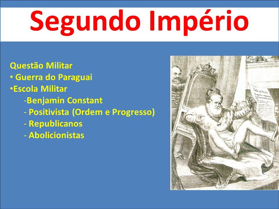 Segundo Império Questão Militar Guerra do Paraguai Escola Militar