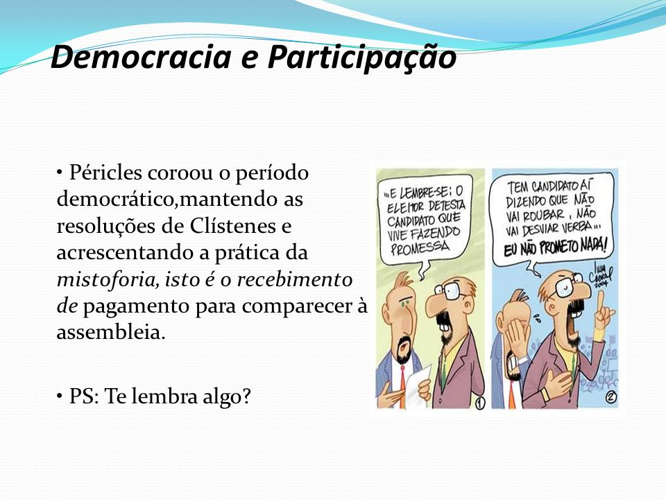 Democracia e Participação