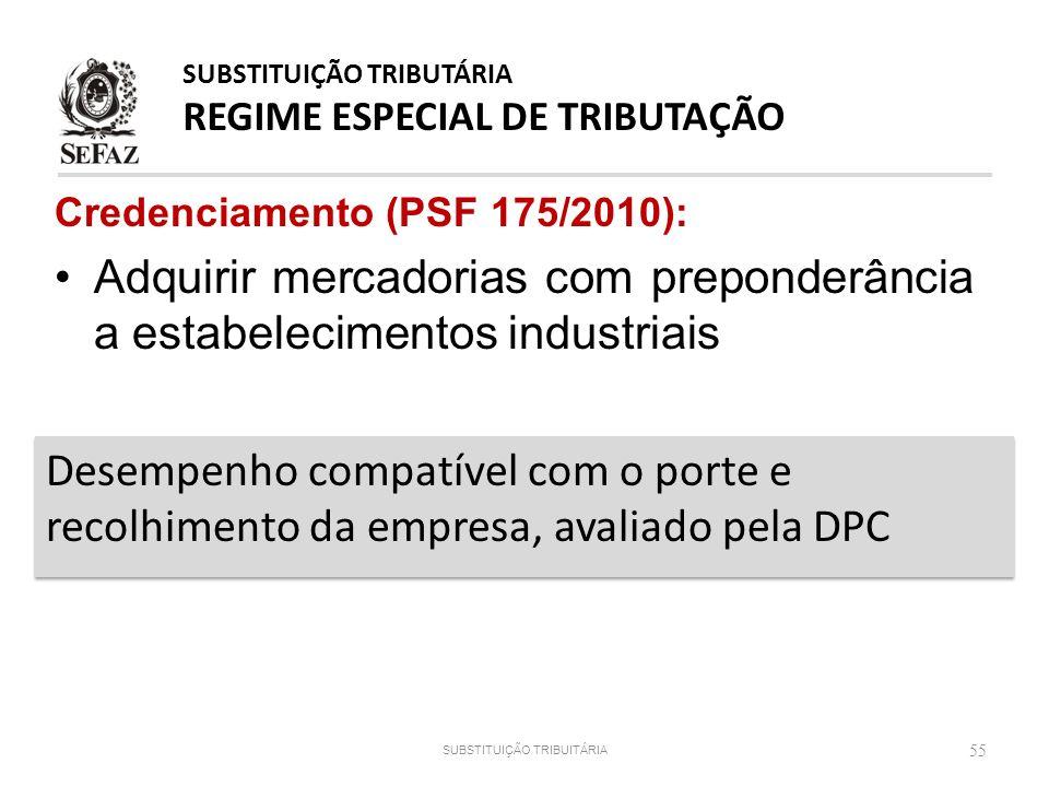 SUBSTITUIÇÃO TRIBUTÁRIA REGIME ESPECIAL DE TRIBUTAÇÃO
