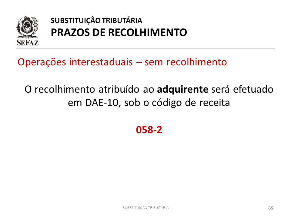 SUBSTITUIÇÃO TRIBUITÁRIA