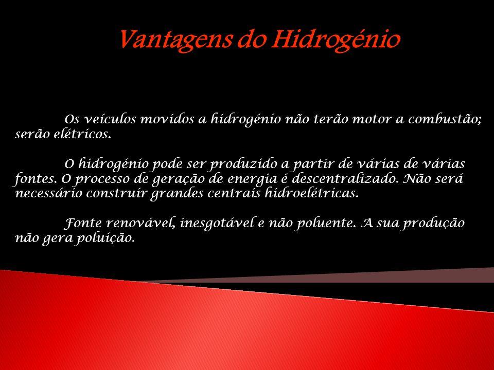 Vantagens do Hidrogénio
