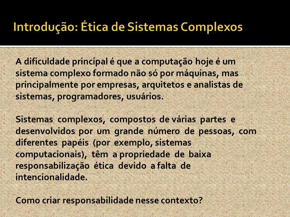 Introdução: Ética de Sistemas Complexos